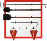 Пожарный щит металлический открытого типа (без комплектации)